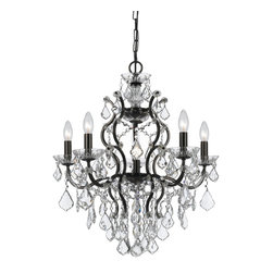 """Crystorama - Filmore Chandelier - Large - Clear Hand Cut Crystal Chandelier. Takes 6 - 60 w/c bulbs. Chain: 72"""" Wire: 120"""""""