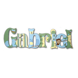 RR - Gabriel Jungle Fun Hand Painted Wall Letters - Jungle Fun Hand Painted Wall Letters