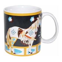 WL - White Horse Decorated with Feathers and Arrowheads 14 oz Coffee Mug - This gorgeous White Horse Decorated with Feathers and Arrowheads 14 oz Coffee Mug has the finest details and highest quality you will find anywhere! White Horse Decorated with Feathers and Arrowheads 14 oz Coffee Mug is truly remarkable.
