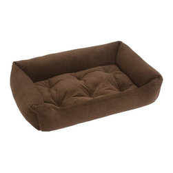 Jax & Bones - Jax & Bones Everyday Nest Bed Espresso Large - Built like a sofa with extra length for dogs who like to stretch. Made with heavy weight velour fabrics and filled with Sustainafill, our signature eco-friendly fiber. Fabric is 100% machine washable.