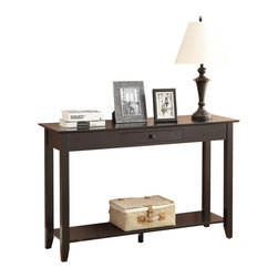 Convenience Concepts - Convenience Concepts Console Table X-LB-1803017 - In a Classic American style, that will fit any d&#233:cor, the American Heritage Console is a great choice for any home. Featuring a drawer for concealed storage, and a bottom shelf that is perfect for collectibles. Whether you use it in the living room, or any other room it'll be sure to make a statement.