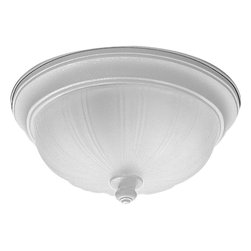 Progress Lighting - Progress Lighting P3733-30 2-Lt. close-to-ceilingPrescott Collection - Progress Lighting P3733 2-Light Prescott Flush Mount Ceiling Light Fiberglass insulated Ceiling pan covers a standard 4-in hexagonal recessed outlet