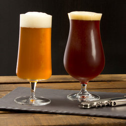 Schott Zwiesel Stemmed Beer Glasses - Schott Zwiesel glass incorporates titanium and zirconium in its formulation to create exceptionally break resistant and etch resistant stemware. Made in Germany.