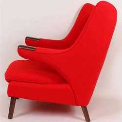 Control Brand - Olsen Upholstered Lounge Chair (Red) - Choose Upholstery: RedCashmere fabric upholstery. Solid wood frame. High-density foam. Made from wood. No assembly required. 40.5 in. W x 37 in. D x 35.5 in. H (55 lbs.)