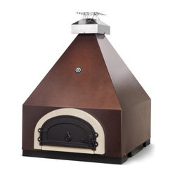 Chicago Brick Oven 750 Pyramid Countertop Pizza Oven - Forgo traditional chimney designs and opt ...