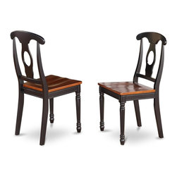 East West Furniture - Napoleon Back Styled Chair - Set of 2 - Set of 2. Simple design for a comfortable and relaxed impression. Black finish. Assembly required. Made in Vietnam. Seat height: 18 in.. Overall: 17.5 in. W x 16.5 in. D x 38 in. H (40 lbs.)