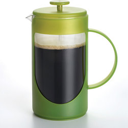 BonJour - Bonjour Green Unbreakable Ami Matin 8-Cup French Press - Enjoy fresh coffee every morning when you have this BPA-free plastic eight-cup French press at your disposal. The innovative design reduces the chance of coffee grounds ending up in your cup. Simply pop it in the dishwasher for easy maintenance.