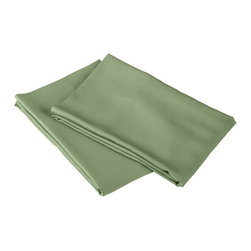 300 Thread Count King Sheet Set Bamboo Solid - Sage - As soft as silk and as durable as cotton, these bamboo derived sheets are at the meeting point of style, comfort and durability. Made from 100% Bamboo derived Rayon, this set of sheets allows your body to breathe in the summer while keeping you warm in the winter. Set includes One Flat Sheet 111x105, One Fitted Sheet 80x82, and Two Pillowcases 21x42 each.