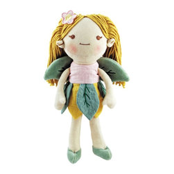 Greenpoint - Miiyim Organic Dolls Good Earth Fairy, Pink - The My Natural Good Earth dolls are sure to land at the top of every little girl's wish list. This natural cotton