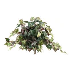 D&W Silks - D&W Silks Oxalis Ivy Tile Topper - Oxalis ivy tile topper