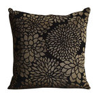 Coaster - Accent Pillow, Black/Gold - Set of 2 - Decorate your house with neutral earth tone patterns to add a little bit of style, but still maintaining a simplistic and casual feel. These colors are easy to match other decor with!