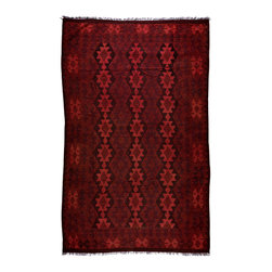 "Darya Rugs - Darya Rugs Kilim, Red, 6'7"" x 9'7"" M1770-502 - Darya Rugs Kilim collection rugs are craftily woven using the flat-weave knotting technique. Kilims have a low-pile, maintaining its original, ethnic and tribal essence. Kilim rugs are flat woven, meaning they are thin, similar to throw rugs."