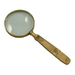 ecWorld - Antique Reproduction Vintage Aged Brass Magnifying Glass - This antique reproduction brass magnifying glass is a top of the line item! It's a fun home decor piece and a great gift idea for that special antique replica collector - or a wonderful home decor present for a deserving person...perhaps you!