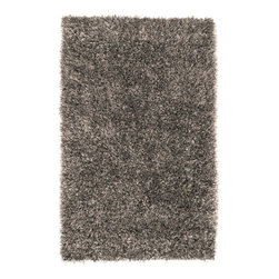 """Surya - Hand Woven Shimmer Rug SHI-5001 - 3'6"""" x 5'6"""" - If you are looking for a shag that can make your room shine, the rugs of the Shimmer collection are exactly what you want. Hand-woven polyester in striking, metallic shades, each piece is full of luminous movement and energy. The combination of innovative style and cutting edge design make these rugs the perfect accent for a transitional or contemporary setting."""