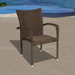 International Home Miami - Atlantic Bari Patio Armchair Set - Great quality  stylish design patio sets  made entirely of high quality resin. No metal parts. I won't rust. Polyester cushion with water repellant treatment. Enjoy your patio with elegance all year round with the wonderful Atlantic outdoor collection.