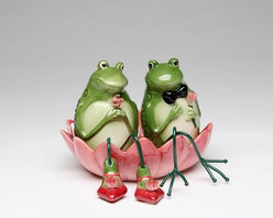 ATD - 4.38 Inch Frog Couple In Pink Water Lily Salt and Pepper Shakers Set - This gorgeous 4.38 Inch Frog Couple In Pink Water Lily Salt and Pepper Shakers Set has the finest details and highest quality you will find anywhere! 4.38 Inch Frog Couple In Pink Water Lily Salt and Pepper Shakers Set is truly remarkable.