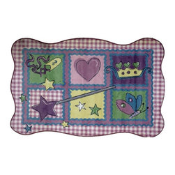 LA Rug Inc - Fairy Quilt - Your child's room is a natural extension of them. Add these innovative designs from Fun Rugs as a finishing touch to spruce up your child's decor.  Offering a vivid and eye appealing array of colors that will stimulate the mind and imagination of children of all ages.  You will be able to count the compliments of this high quality rug.  Spot clean using mild soap and cold water, not machine washable.