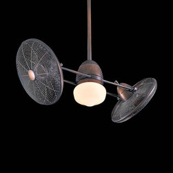 Minka Aire Gyro Ceiling Fan - This non-traditional ceiling fan is totally weird, and I DIG IT! I'm not even sure what is going on here, but I'm loving the industrial age innovative look.
