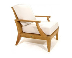 Westminster Teak Furniture - Laguna Teak Lounge Chair - This generously proportioned lounge chair invites you and your guests to kick back and stay awhile. Expertly crafted of teak, it has a timeless sensibility that gives it enduring style.