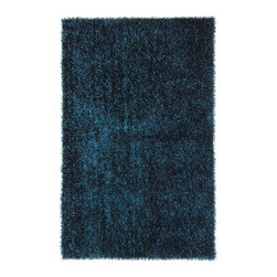 """Jaipur - Jaipur Flux  FL03 RUG101753 Area Rug - Personal expression reaches new heights with Flux, a beautiful range of plush, hand-woven shag rugs of 100 percent polyester. This """"chameleon"""" is ideal for the contemporary design lover who enjoys mixing up his or her personal space often - acting as a rich background to a diverse palette of furnishings and accessories. Highly textured shag construction brings comfort underfoot while a palette of fashion forward solid hues commands attention in any room."""