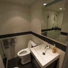 Modern Bathroom by Lauren Held Designs, LLC