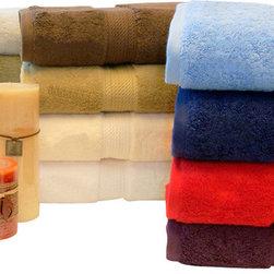 """Bed Linens - Egyptian Cotton 900GSM 2pc Bath Towel Set s tone - Towel Set Includes:    Two Bath Towels - 30""""x55"""" each"""