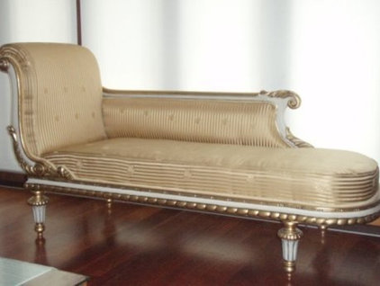 traditional day beds and chaises Velvet Chaise Lounge