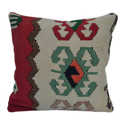 "Turkish Import. - 16"" Boho Interior Turkish Pillow Cushion  Cover. - 16"" boho interior turkish pillow cushion  cover.  Hand woven kilim pillow decorative pillow cover in bohemian deco.  Please note:  pillow insert not included."