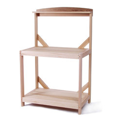 All Things Cedar - All Things Cedar PT35U Garden Potting Table - Features Top and Lower Deck (33 x 20 in.) - Lipped Edges Keeps Soil On The Table    Table height: 32 in.  Top Shelf: 6 x 35 in.  Dimensions:  35 x 22 x 53 in. (w x d x h)      Shipping: 4 - 7 days