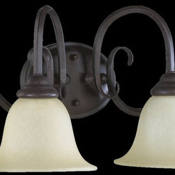 Quorum Lighting - Quorum Lighting Spencer Traditional Bathroom / Vanity Light X-44-4-0115 - Large arched arms are paired with exaggerated flared lips on the glass bell shades of this Quorum Lighting bathroom light, setting the stage for the elegant design. Subtle curled accents at the backplate as well as beveled caps to each of the glass diffusers helps to add just the right touch of interest.