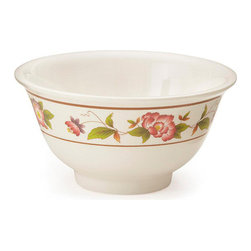 Get Melamine - Tea Rose 6 oz 3.75 x 2 Bowl 24 Ct - Descriptions: