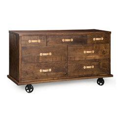 Zuo Modern - Zuo Modern Oaktown Wide Dresser in Distressed Walnut - Wide Dresser in Distressed Walnut belongs to Oaktown Collection by Zuo Modern Wide Dresser (1)