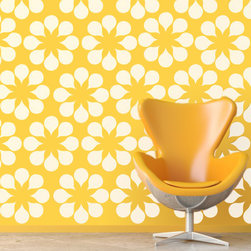WallStar Graphics - WallStar Graphics Daisy Wall Pattern - Flower power forever! Add personality to your home with the Wall Star Graphics Retro Daisy Wall Pattern. Featuring a large, repeating pattern of large, solid color flowers, it is made of premium cut matte vinyl that makes it easy to place and remove. With several colors available, the matte finish evokes a hand-painted feel that looks great on any smooth or semi-smooth surface - your walls will never look better!Available in seven colors: white, black, light yellow, lime, turquoise, pink and dark grayImage shown in whiteComes as solid color pattern - no fillCannot be repositioned or reused once removedHigh-quality vinyl with matte finishMade to order