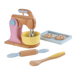 """KidKraft - Kidkraft Kids Children Home Indoor Pretend Play Cooking Toy Pastel Baking Set - Baking fresh cookies is always a great activity for parents to share with their children. Now, with our new Pastel Baking Set and Primary Baking set, the young chefs in your life can do all the work themselves. These wooden 6 piece sets are so detailed that you'll swear you smell the chocolate chips. Dimension: 8.7""""Lx 5""""Wx 9""""H"""