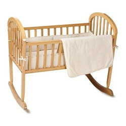 American Baby Company 3 Piece Organic Cotton Velour Cradle Set - Natural