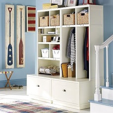 clothes and shoes organizers by Pottery Barn