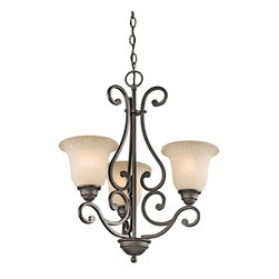 Kichler - Kichler Camerena Three Light Olde Bronze Up Chandelier - This three light up chandelier is part of the Camerena Collection and has an olde bronze finish.