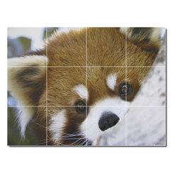 Picture-Tiles, LLC - Tree Animals Photo Shower Tile Mural 1 - * MURAL SIZE: 36x48 inch tile mural using (12) 12x12 ceramic tiles-satin finish.