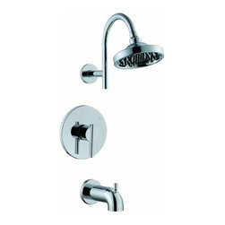 "PREMIER - Essen™ Bath Tub And Shower Faucet With Single Metal Lever Handle, Brushed Nickel - Single Handle, Pressure Balanced Washerless Cartridge Metal Lever Handle Brass Showerhead Set Slip-Fit Spout with Tub and Shower Set 1/2"" IPS Connections - Manufacturer: Premier Faucet - PLUMBING - WATER TREATMENT & FILTRATION - WATER SOFTENERS - WATER SOFTENER CABINETS."