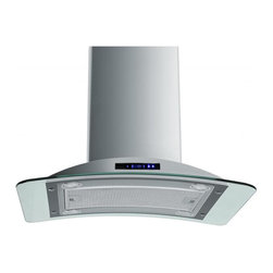 "AKDY - AKDY AG-Z9009 Euro Stainless Steel Island Mount Range Hood, 30"" - Keep your kitchen smelling fresh while you cook with this AG-Z9009 convertible range hood that features a 870 cfm centrifugal blower with 3 fan speeds to effectively remove smoke, cooking vapors and odors from your cooktop area. Optional recirculating kits are available. Model available in 30"" and 36"""