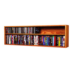 CD Racks - Solid Oak Wall or Shelf Mount for CD and DVD/VHS tape/Book Cabinet - Handcrafted by the Wood Shed from durable solid oak hardwood