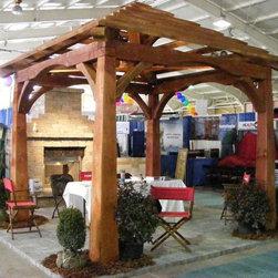 Timber Framed Structures, Arbors, Trellises, Pergolas, Trelisses in NYC, NJ, CT - Post & Beam (Timber Framed) Pavilion