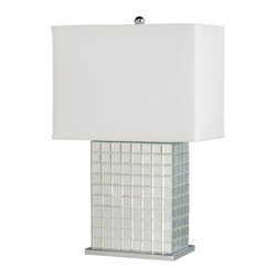 Kichler Lighting - Kichler Lighting 70893 Bling Modern / Contemporary Table Lamp - This unique 1 light Bling portable table lamp will make a distinctive impact in your home. Featuring a Clear finish, angular detailing and a Hard Back Fabric shade, this design is sure to create a highlight any space.