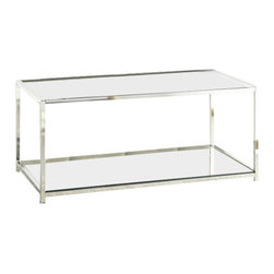 Convenience Concepts - Convenience Concepts Palm Beach Glass Coffee Table in Black - Convenience Concepts - Coffee Tables - 131382BL - The Palm Beach collection from Convenience Concepts brings the urban design and multi-function use. Featuring removable/reversible wood tray that can be used as a flat surface or as serving tray.