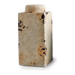 Square Pot w/ Lid Large - Handcrafted clay pottery