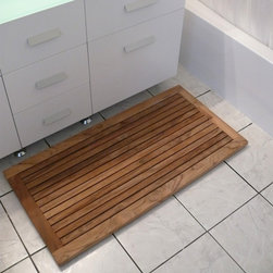Outdoor Decor Products - Teak Bath Mats and Teak Door Mats are ideal complement to any entrance or in a bathroom providing a spa-like feel. Made of solid teak, these mats are durable enough to withstand the most challenging environments.