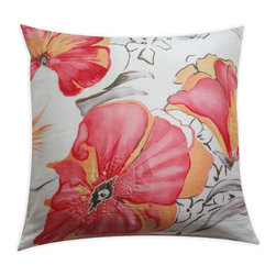 Vintage Maya - Avignon Silk Pillow Cover - Create a lavish throw pillow for your sofa or bed with this sensational silk pillow cover. Enjoy the incredibly luxurious feel of silk against your skin and a fantastic floral pattern that looks as good as it feels.
