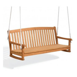 Oxford Garden - Chadwick 5 Foot Swing - The Chadwick 5 ft. Swing makes a graceful addition to the Chadwick Collection. Its classic design and gently arched back add softness, while its deep seating adds comfort.