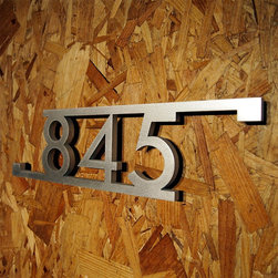 Address Plaques - CUSTOM Modern Bars & Squares House Number Sign in Aluminum