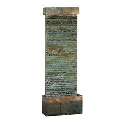 Kenroy - Kenroy 50265SLCOP Castle Rock Floor Fountain - Kenroy 50265SLCOP Castle Rock Floor Fountain